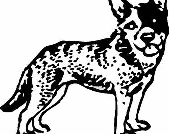 Australian Cattle Dog/ Queensland Heeler Decal/ Sticker