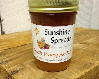 Peach Pineapple Jam, 8 Ounce Jar, Amish Made