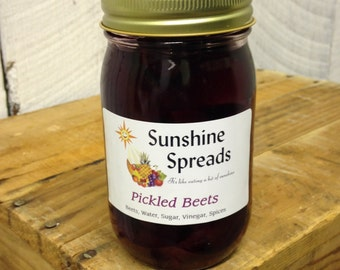 Pickled Beets, 16 Ounce Pint Jar, Amish Made
