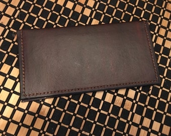 Brown Leather checkbook cover