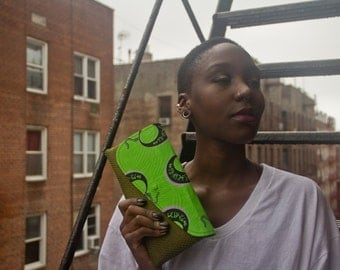 Lusaka 'Greenleaves' Clutch [Popup Sale ends 06/20]