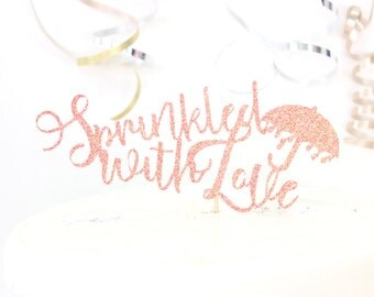 Sprinkled With Love Banner Cake Topper
