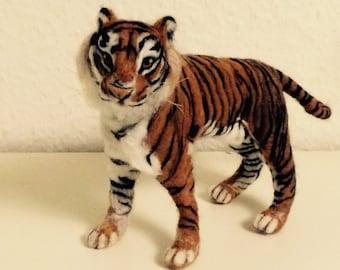 Handmade Needle Felt Tiger