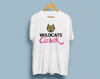 WILDCATS Care Breast Cancer Awareness White T-shirt (October)