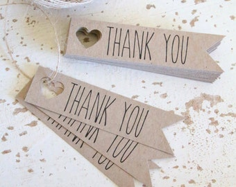 Rustic Thank You Tags Pk20