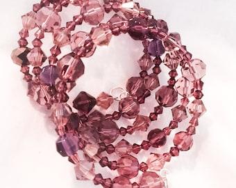 5-layer lavender wire bracelet