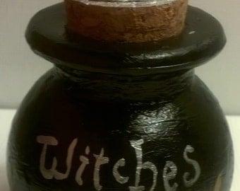 Witches Brew Cauldron with Quartz