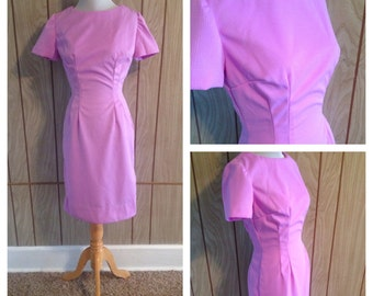 Vintage 60's fitted hand made wiggle dress - small