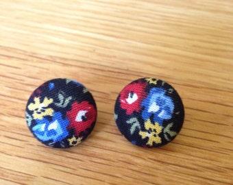 Hannah Floral Button Earrings