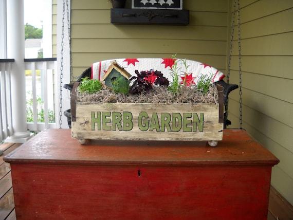 Herb Garden Box Garden Box Garden Tray Indoor Garden Indoor