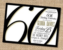 Gloria 60th Birthday Invitation