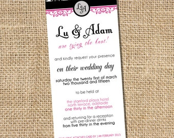 Lu Wedding Invitation