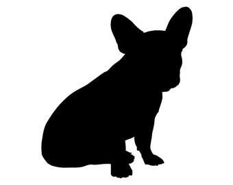French Bulldog decal, french bulldog sticker, frenchie sticker, frenchie car window decal, french bulldog dog decal, french bulldog stickers