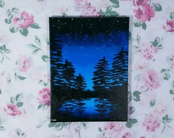 "Night Time Silhouette - 12"" x 16"""