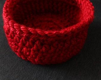Medium Size Handmade Crochet Storage Basket