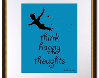 Peter Pan-Think Happy Thoughts-Digital download
