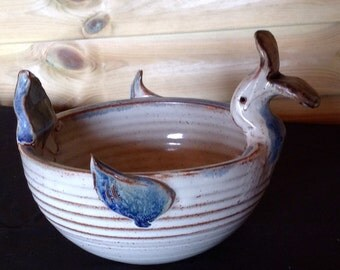 Duck Studio Pottery Salt Glazed Bowl 20th Century