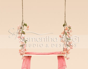Digital Photography Background - Blossom Swing Backdrop