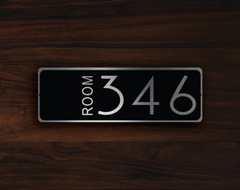 CUSTOM HOTEL ROOM Door Number Sign, Hotel Room Door Number Sign, Customizable Room Number Signs, Hotel Room Number, Hotel Room Numbers