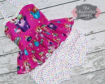 Shopkins Peplum Halter Top and Matching Bloomers