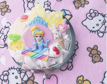 Milkyangelic Kawaii Cinderella Inspired Compact Mirror