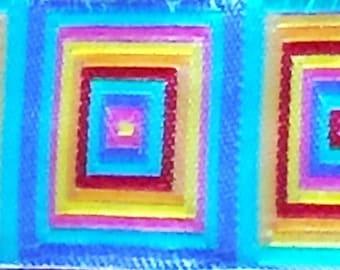 Multi Colored Cubic Jacquard (04-058-MC-054)