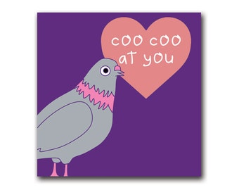 Pigeon pop cards (love/valentines/blank/generic/engagement)
