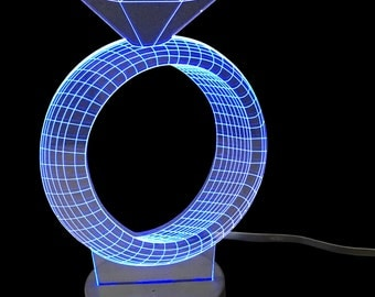 Diamond Ring- LED Night Light Lamp 3D