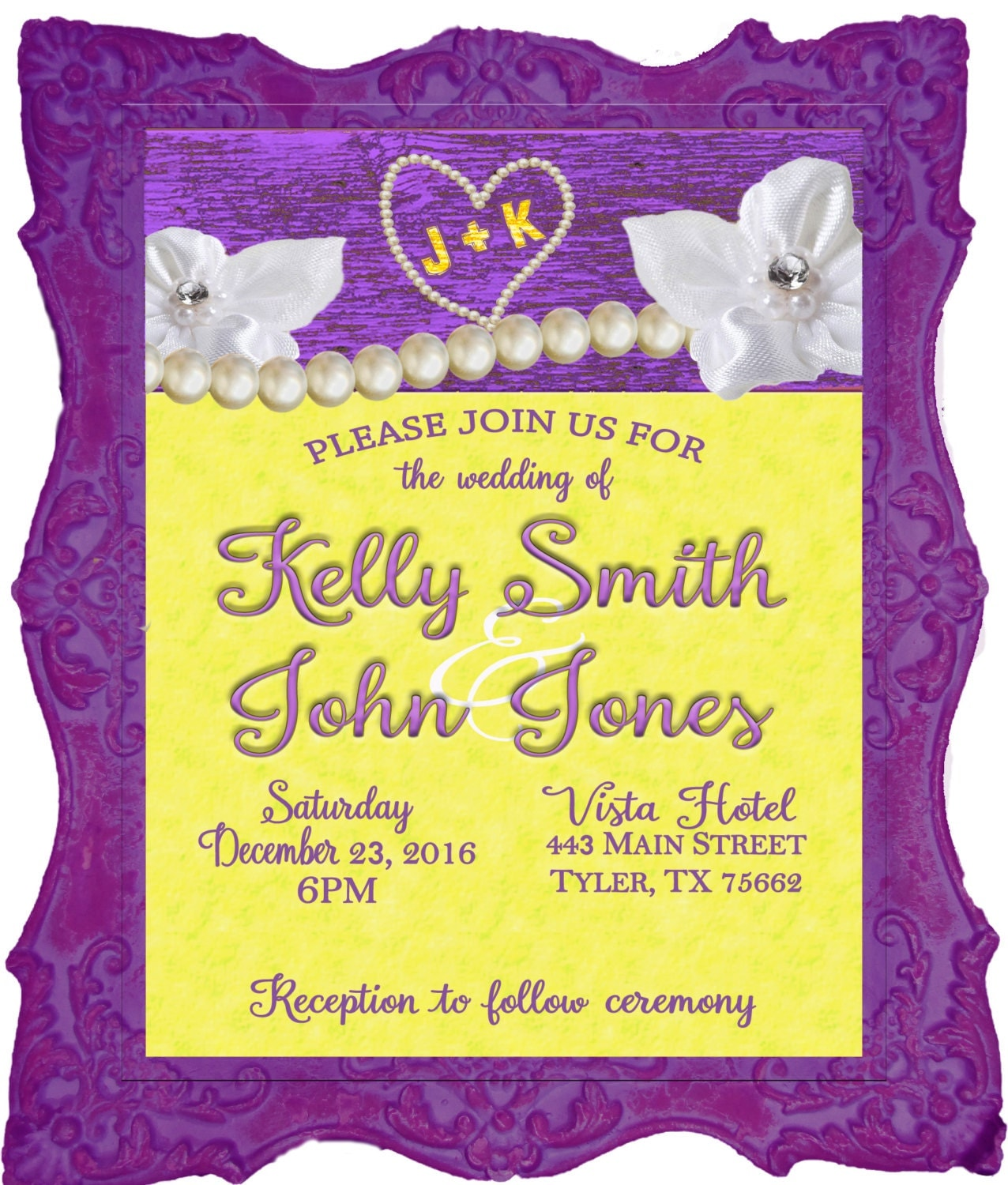 Purple And Yellow Wedding Invitation RSVP Thank You Cards Save The Date Personalized Amp Printable