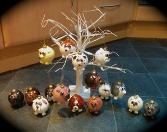 Hand made *dog* Christmas Baubles
