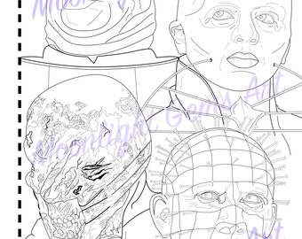 Hellraiser • Colouring Page • Poster