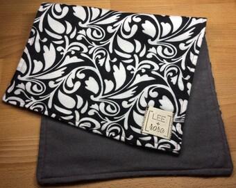 Black and White Burp Cloths
