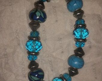 Blue stretch bracelet