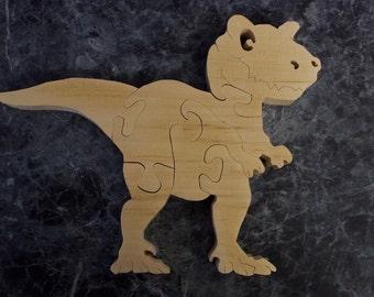 Natural Wood T-Rex Puzzle