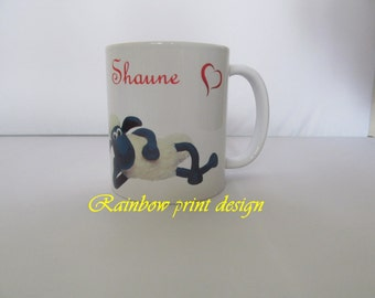 I LOVE YOU personalized mug any name and design can be done