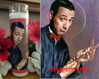 Peewee Herman Prayer Candle - choose scent/color