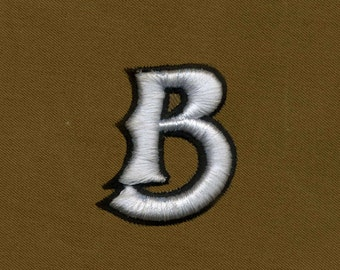 B for Bold & Beautiful Puff Embroidery Design