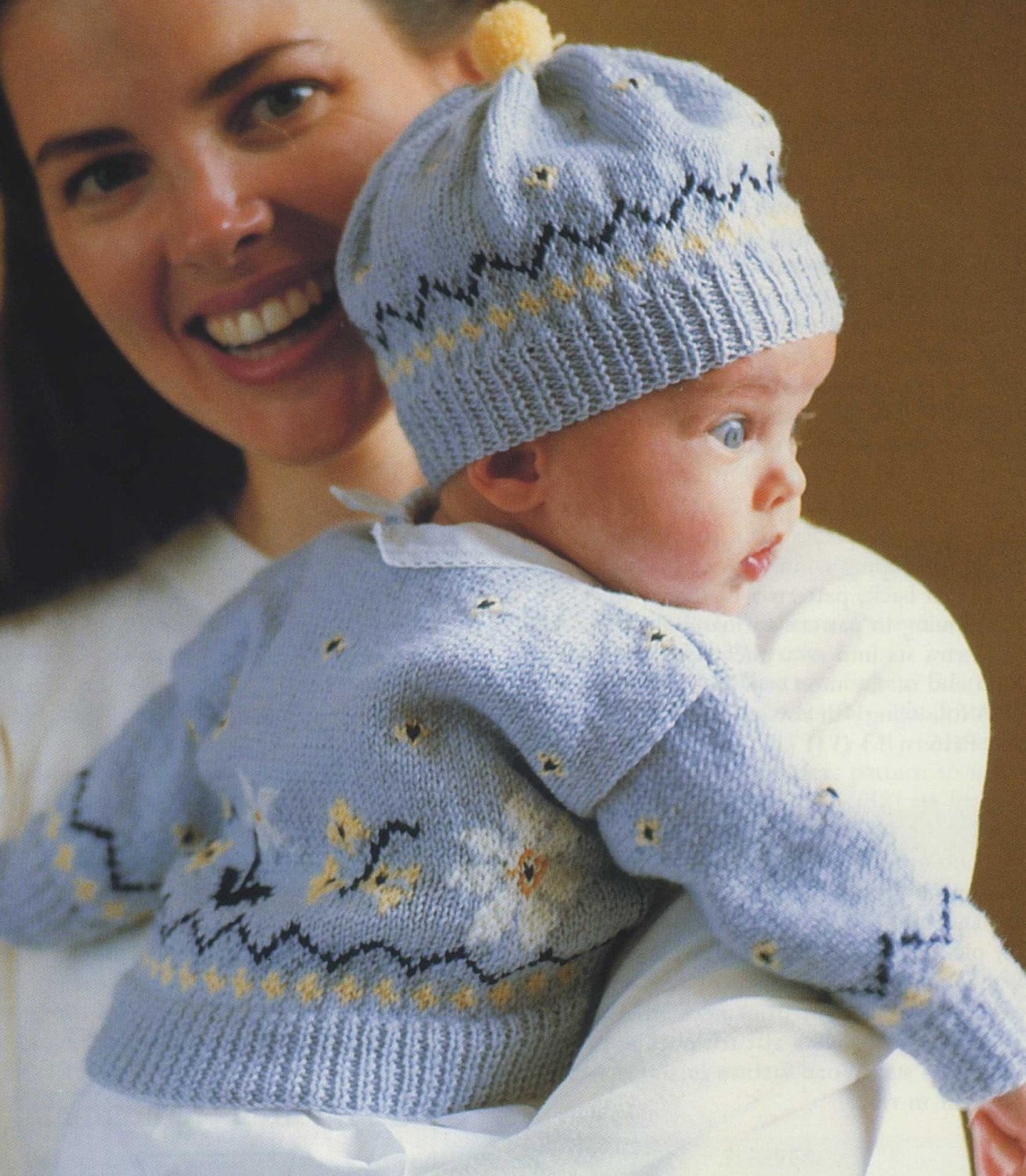 Knitting Patterns For Babies And Toddlers : Baby fair isle cardigan and hat pdf knitting pattern babies