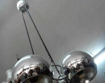 Steel chandelier 70s