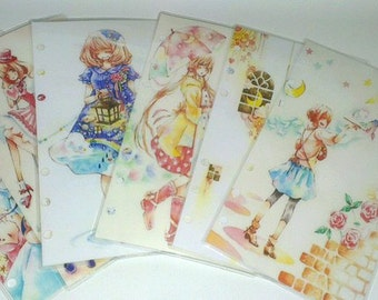 Anime dividers for a6 size personal planner Kikki,Filofax, Dokibook