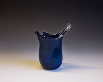 Handmade Artisan Blown Glass Water Droplet Vase -- Small