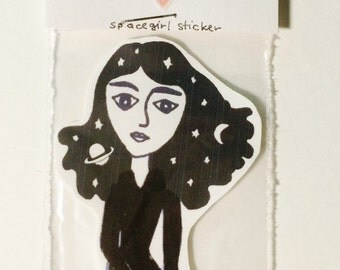 Spacegirl Sticker