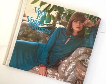 1974 Vogue Easy Patterns Hardcover Book Rare Vintage