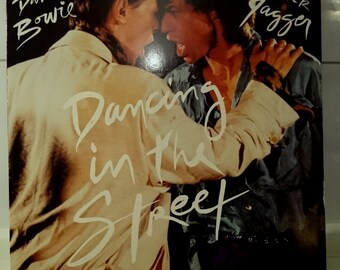 Bowie Jagger 12 ' ' Single dancing in the street vinyl retro Records