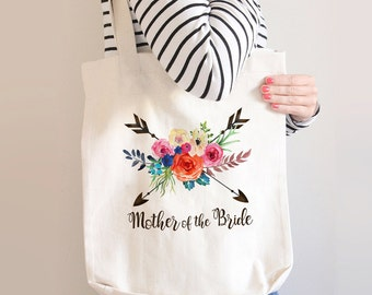 Mother of the Bride Tote Bag, Canvas Tote, Personalized Tote Bag, Mother of the Bride Gift Ideas, Custom Tote Bag, Stepmother of the Bride