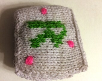 Knit book with first initial