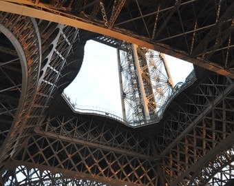 Internal Structure of the Eiffel Tower, architecture, steel, building, lights, paris, colour, daytime