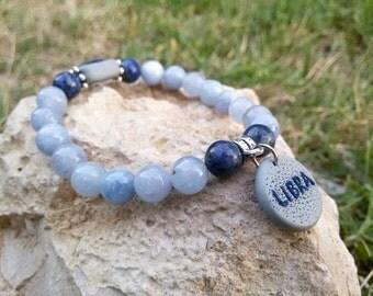 Libra bracelet Personalized Woman Libra jewelry Zodiac bracelet Libra birthday gift Astrology Jewelry Xmas gift for Libra jewelry gift