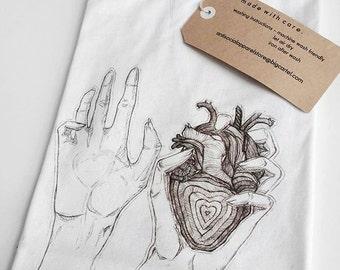 Hands Holding Heart T-Shirt (White)