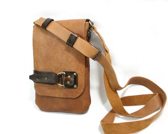 Leather Bag / Shoulder Bag / Handbag - completly handmade and unique